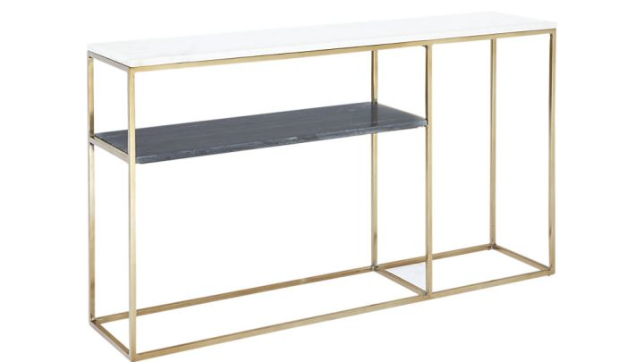 2 Tone Marble Console